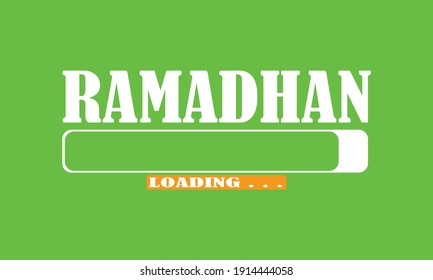 Ramadhan ramadan loading bar, ramadhan background.  Flat Design. Holiday design. Prepared for Ramadan kareem. Can be used for cover, background and wherever you decide need is.