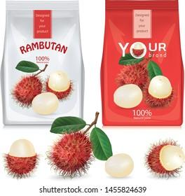 Rambutan fruit and design for rambutan packaging