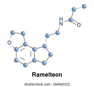 Ramelteon is a sleep agent that selectively binds to the melatonin MT1 and MT2 receptors in the suprachiasmatic nucleus (SCN).