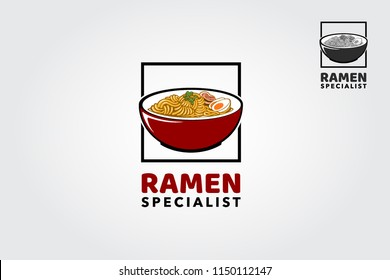 Ramen Specialist  logo template. Suitable for any food industry, japanese restaurant, ramen restaurant, food icon, etc.