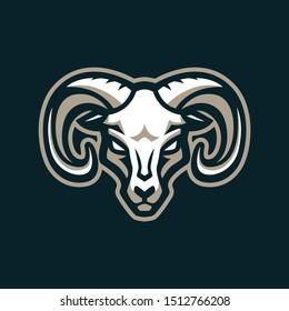 rams goat animal mascot logo