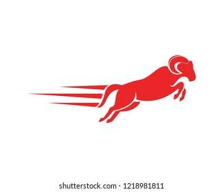 Rams head logo design icon