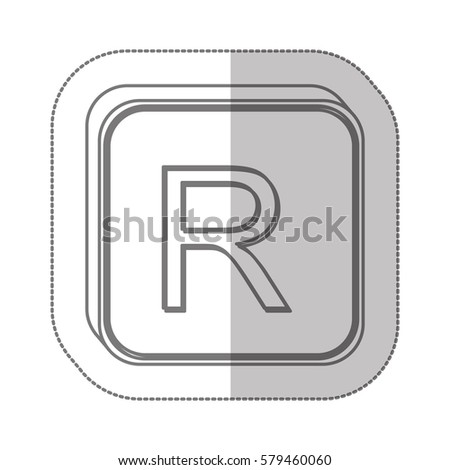 Rand Currency Symbol Icon Image Vector Stock Vector Royalty Free