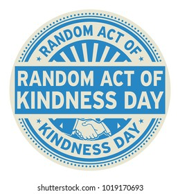 Random Act of Kindness Day rubber stamp, vector Illustration