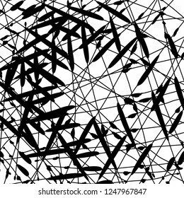 random chaos lines geometric pattern vector background black monochrome art abstract grunge texture