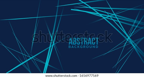 Random chaotic blue lines abstract geometric background Modern contemporary art-like illustration Monochrome asymmetrical composition Miscellaneous artwork Digital structure Mess linear Irregular line