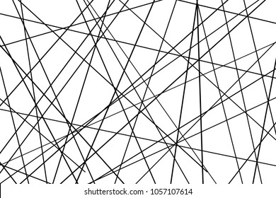 Random chaotic lines abstract geometric pattern