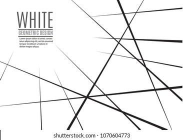 Random chaotic lines abstract geometric pattern.Vector background. Can be used in cover design, book design, poster, website background or advertising.