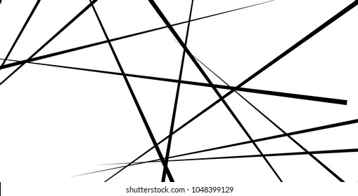 Random, chaotic lines in rectangular frame. Disarray of lines. Abstract art