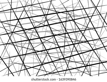 Random Chaotic Lines, Scattered Lines, Random Chaotic Lines Asymmetrical Texture Vector Abstract Art simple striped element Illustration