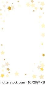 random falling golden stars on honologram background magic flying stars confetti banner greeting