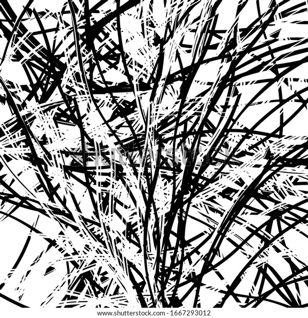 Random line shapes abstract art pattern / texture. Ragged, corrugated, chaotic jumble of lines shapes