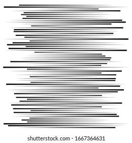 Elemento de líneas aleatorias. Líneas horizontales aleatorias. Rayas rectas y paralelas irregulares. Tiras, traba patrones geométricos de medio tono