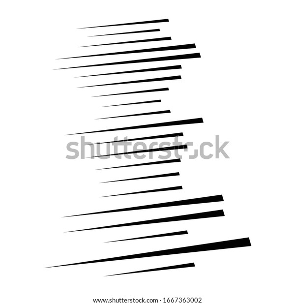 Random lines element. Random horizontal lines. Irregular straight, parallel stripes. Strips, streaks half-tone geometric pattern