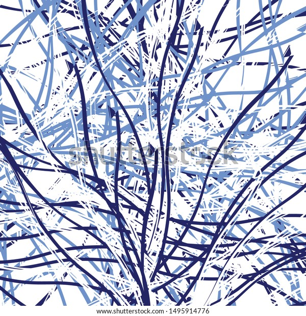 Random Lines Shapes Geometric Abstract Art Stock Vector