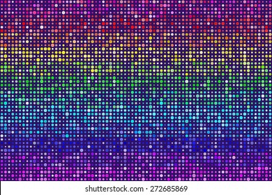 Random Rainbow Dots Pattern Seamless Background. EPS8 Vector