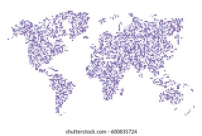 Random rectangles of world map.