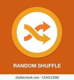 random Shuffle symbol - album playlist sign - randomize icon