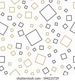 Random squares pattern. Abstract background. Geometrical simple image, illustration. Creative, luxury style. Print cloth, clothing, shirts, dress, wrap, wrapper, web, cover, label, banner, emblem.