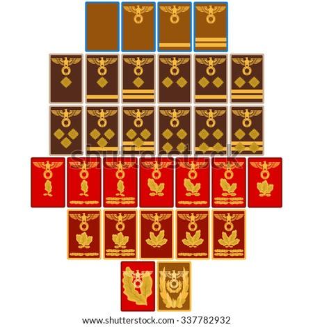 Ranks Insignia Nazi Party Germany Since Stock Vector Royalty Free