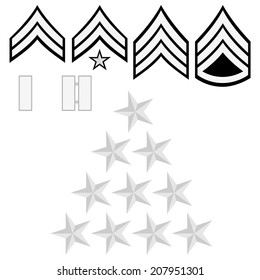 Ranks and insignia of the police of the world. Illustration on white background.