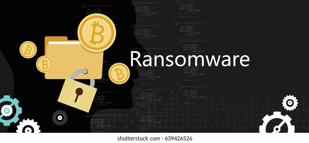 ransom ware wannacry hacker malware concept of lock folder and ask money vector