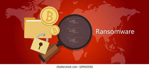 ransomware wannacry hacker concept of lock folder and ask money