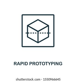 Rapid Prototyping icon outline style. Thin line creative Rapid Prototyping icon for logo, graphic design and more.