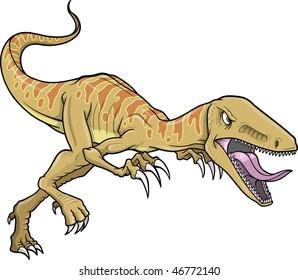 Raptor Dinosaur Vector Illustration
