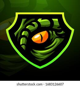Raptor eye mascot logo design