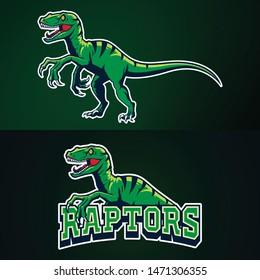 Raptors illustration mascot set for esport logo