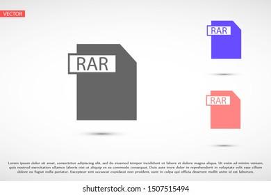 RAR file vector icon 10 eps icon. File for computer icon. file for phone icon. file to download