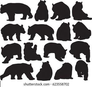 Rare animals unique to China?giant panda silhouette contour