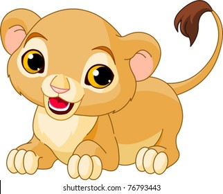 Baby Lion Cartoon Images Stock Photos Vectors Shutterstock Baby lion clipart black and white. https www shutterstock com image vector raring cute lion cub white background 76793443