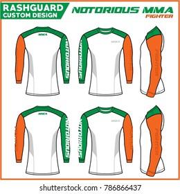 Rash Guard Crossfit Notorious MMA Irish Style Custom Design Template