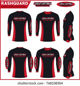 Rash guard jiu-jitsu custom design