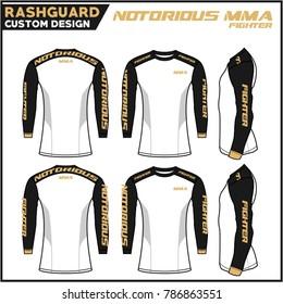 Rash Guard MMA Custom Design