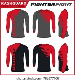 Rash Guard MMA Fighter Custom Design