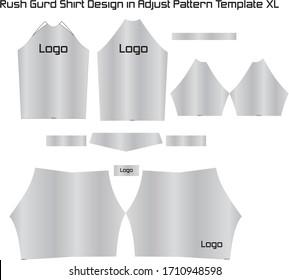 Rash Guard Shirt Design in Adjust Pattern Template XL