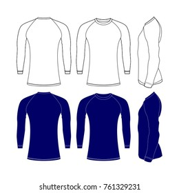 Rash guard shirts tamplate vector