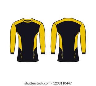 Rash Guard Yellow Color Minimal Modern Style Custom Design Template