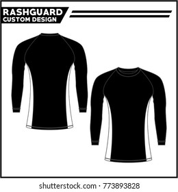 Rashguard black white template design