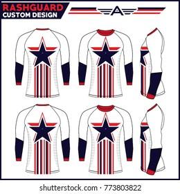Rashguard custom design template