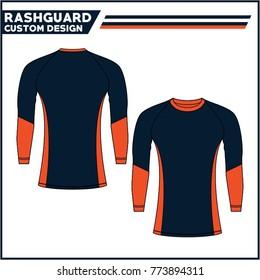 Rashguard template design vector