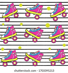 Raspberry rollers on a striped background. vector illustration for children
