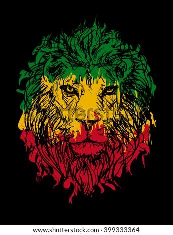 Rasta theme with lion