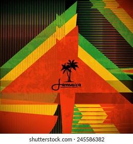 Rastaman Poster. Vector Background.