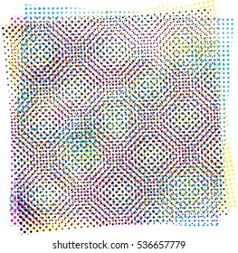raster pattern with pixel halftone effect. vector. new style out of the ordinary geometric. fabric, paper or for art.