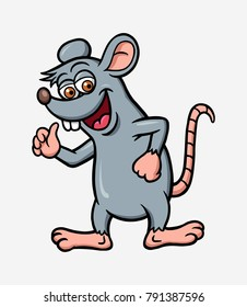 Rat cartoon character colorful. Good use for mascot or any design you want.