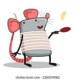 rat cooks pancakes